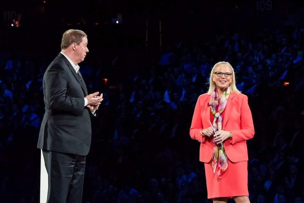 Maersk's Michael White speaking with Ginni Rometty