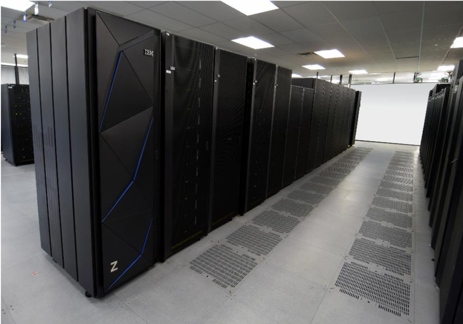 the ibm mainframe in the data center