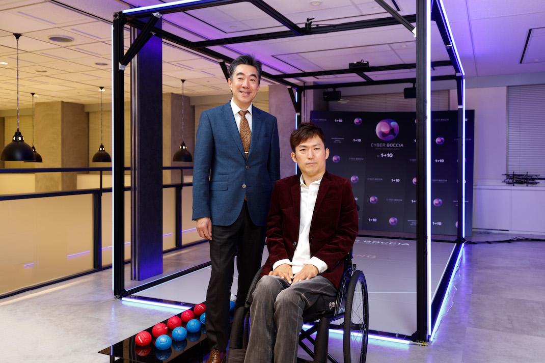日本IBM研究開発の執行役員 森本典繁氏と、ワン・トゥー・テン・ホールディングスCEO澤邊芳明氏