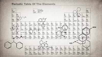 元素の周期表のイメージ