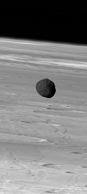 火星の衛星フォボス Credit:G. Neukum (FU Berlin) et al., Mars Express, DLR, ESA