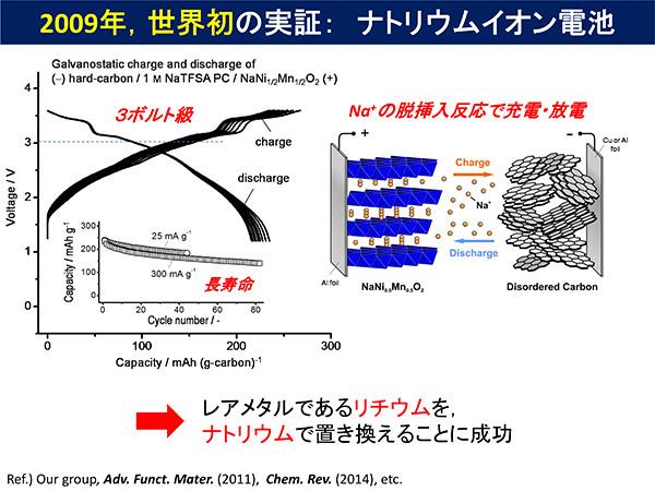 2009年、世界初の実証:ナトリウムイオン電池