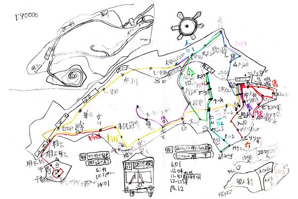 今和泉さんが描いた空想地図