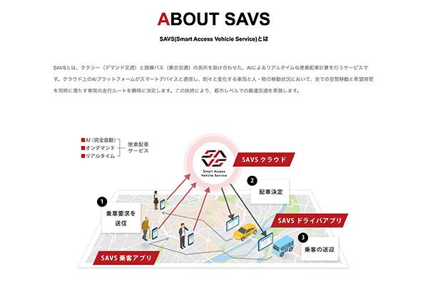 公共交通サービス「SAVS」
