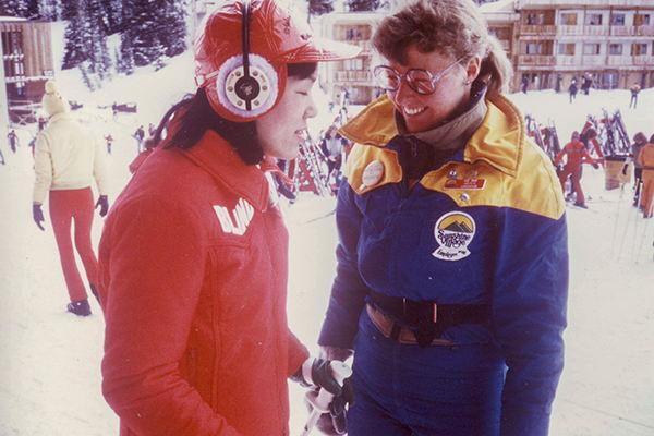 大学3年生(21歳)の時、カナダ・バンフのスキー場にて。