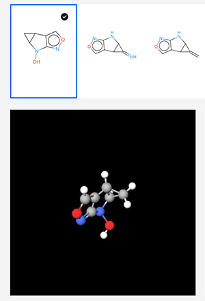 分子構造は3次元のバーチャル空間で触ることができる