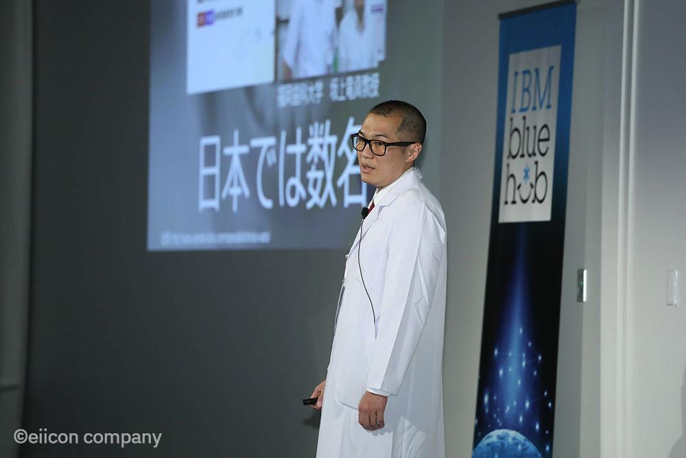 5期デモデイで特別賞を受賞した歯っぴー社の代表・小山氏