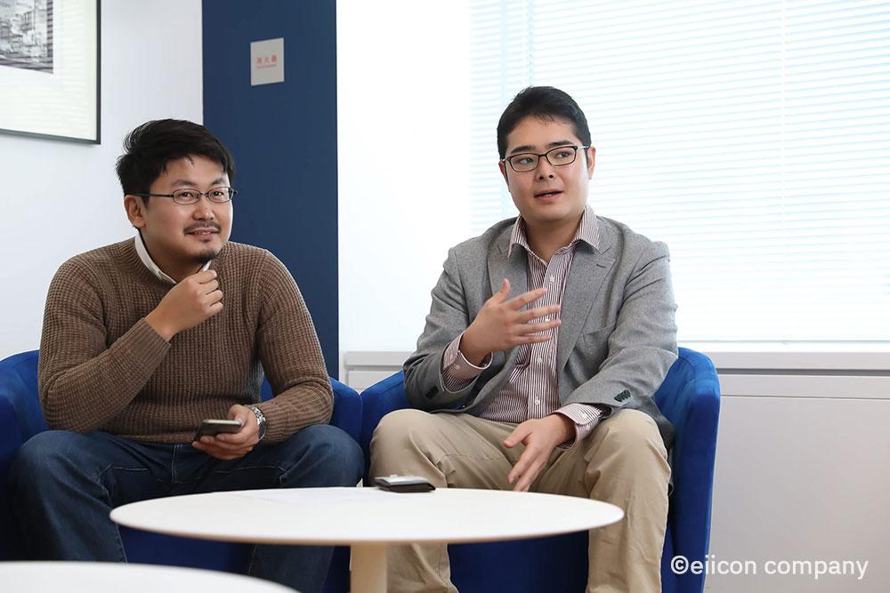 6期で採択されたGemsmith Partners社の最高経営/技術責任者伊藤氏(左)と技術部長近藤氏(右)