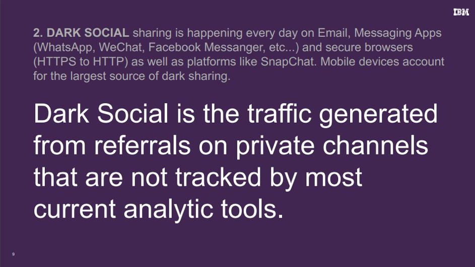 dark data social media ibm marketing tools snap chat