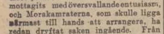 Detalj från artikel i Dagens Nyheter 3 mars 1922