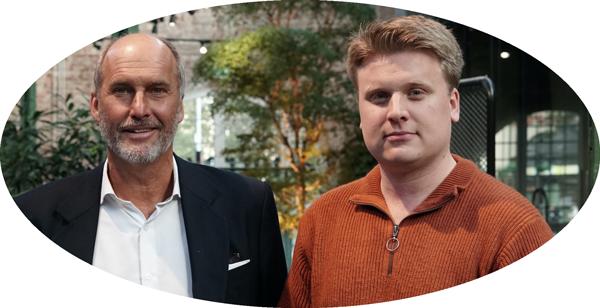 Fredrik Billing och Tore Stenbock, grundare av Eljun