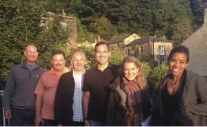 The Health Corps team in Calderdale: (L to R) Dejan Radeka, Steve Welch, David Clarkson, Timothy Pavlick, Melissa Geissler, Elise Smith