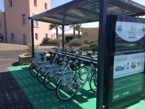 Solar charging station for electric bikes