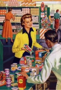 retail shopping vintage