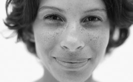 young woman's face