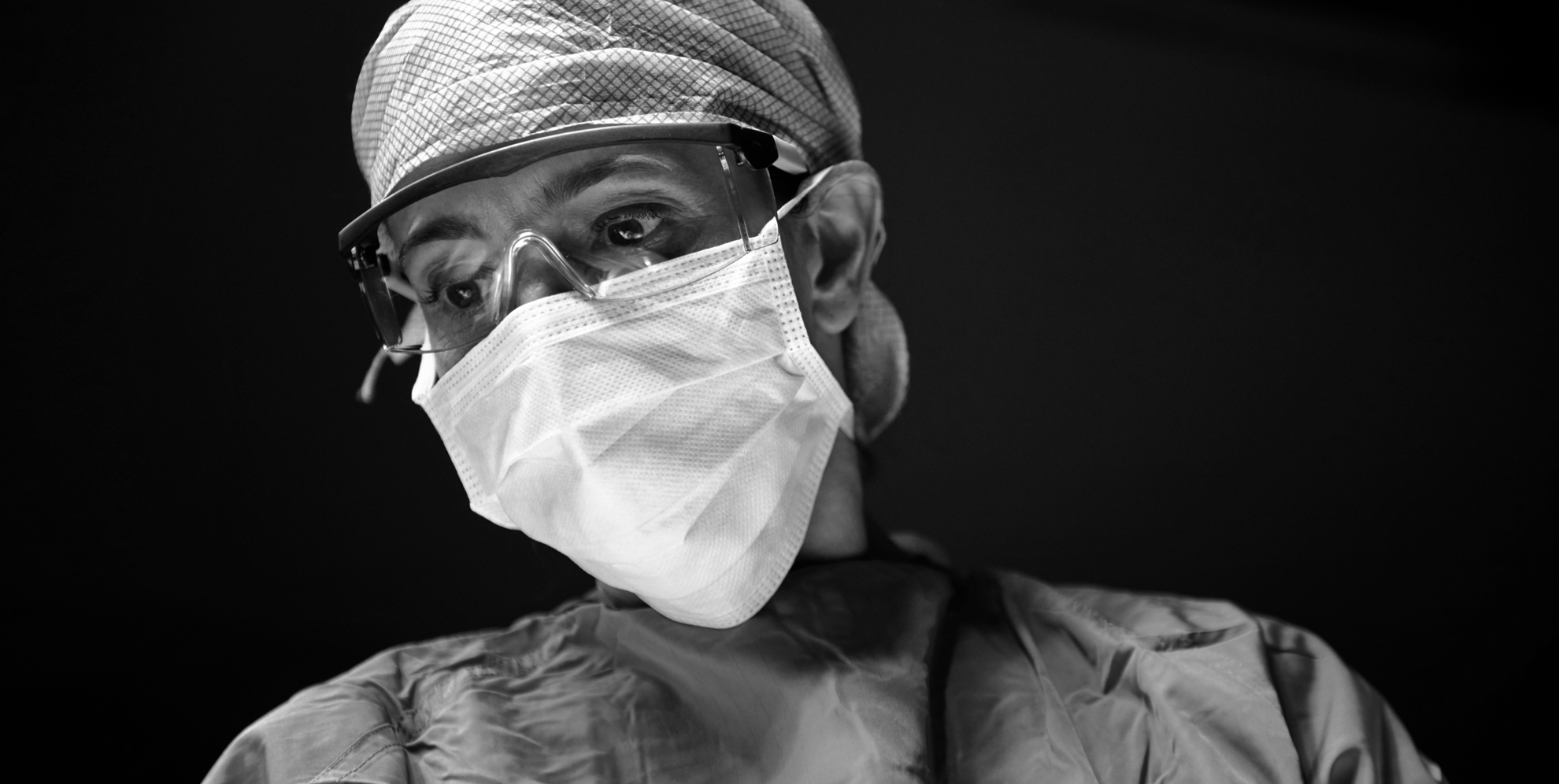 Surgeon in mask