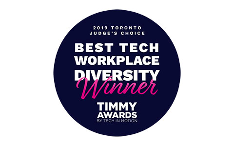 Best Tech workplace for Diversity winner. Timmy awards.