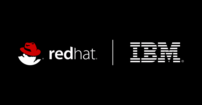 Logos of IBM and Red Hat