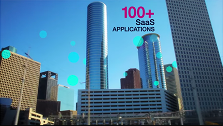 Screen shot of IBM SaaS business applications on the cloud video