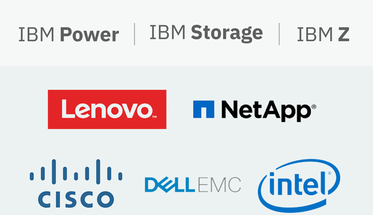 IBM Power|IBM Storage|IBM Z Cisco, DellEMC, Intel, Lenovo and NetApp