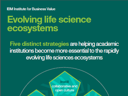 Evolving life science ecosystems. Five distinct academic strategies are helping academic institutions become more essential to the rapidly evolving life science ecosystems