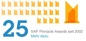 25 SAP Pinnacle Awards seit 2002. Mehr dazu