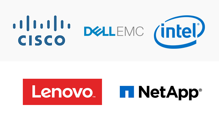 Zu den IBM Cloud Private-Partnern gehören Cisco, Dell, EMC, Intel, Lenovo und NetApp