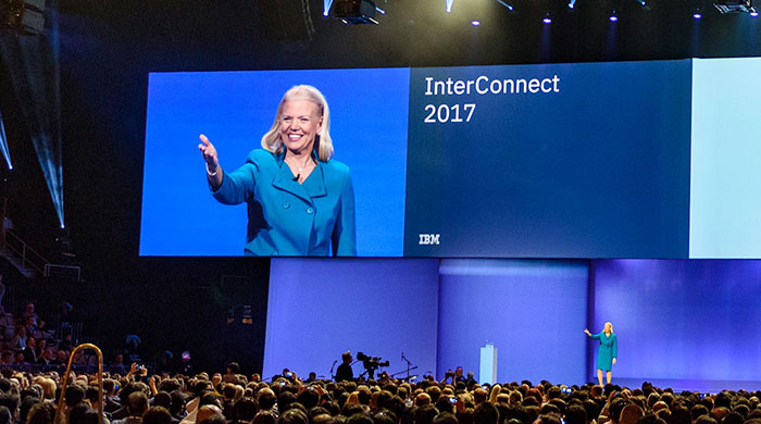IBM CEO Ginni Rometty addresses the InterConnect crowd