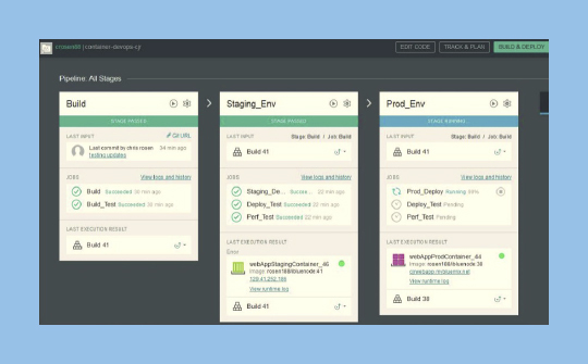 Screen shot showing DevOps tools available in Bluemix
