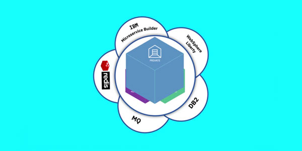 Screen shot from video illustrating the use of private cloud to build cloud-native apps
