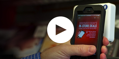 Screen shot from video of GameStop case study describing its use of IBM Cloud to develop mobile apps fast