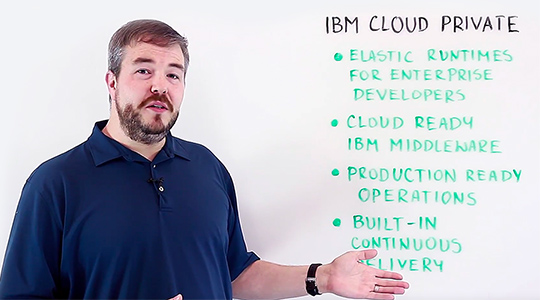 Screen shot from IBM Cloud Private overview video