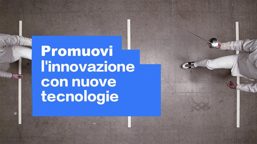 Foto generica, che rappresenta la capacità di innovazione favorita da un'architettura cloud flessibile, open source e dalle nuove tecnologie