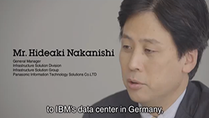 to IBM's data center in Germany.