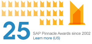 25 SAP Pinnacle Awards since 2002