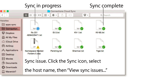 Sync in progress Sync complete