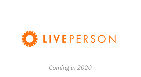 Coming in 2020, liveperson logo