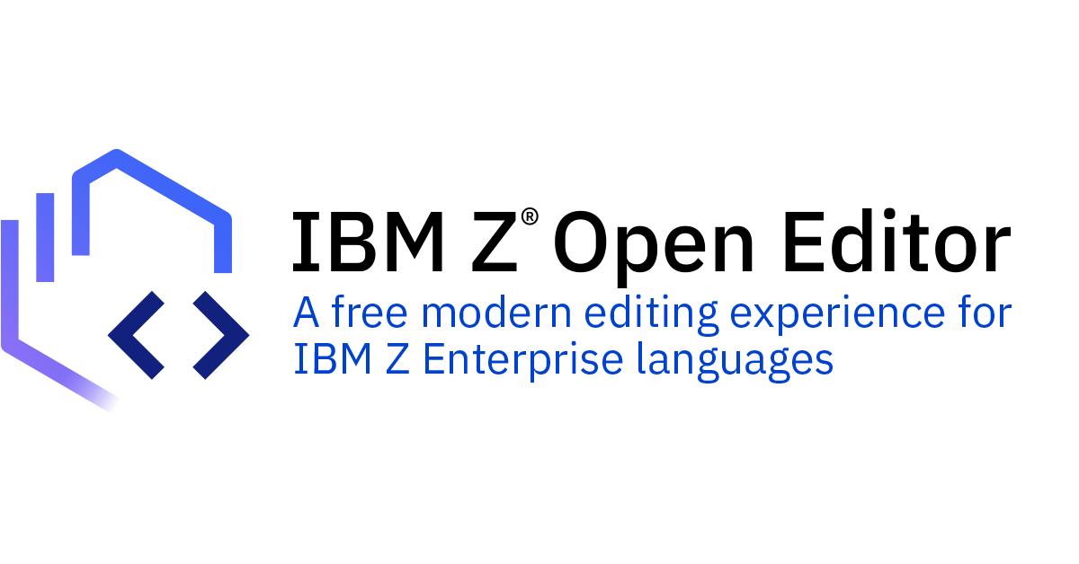 IBM Z Open Editor banner