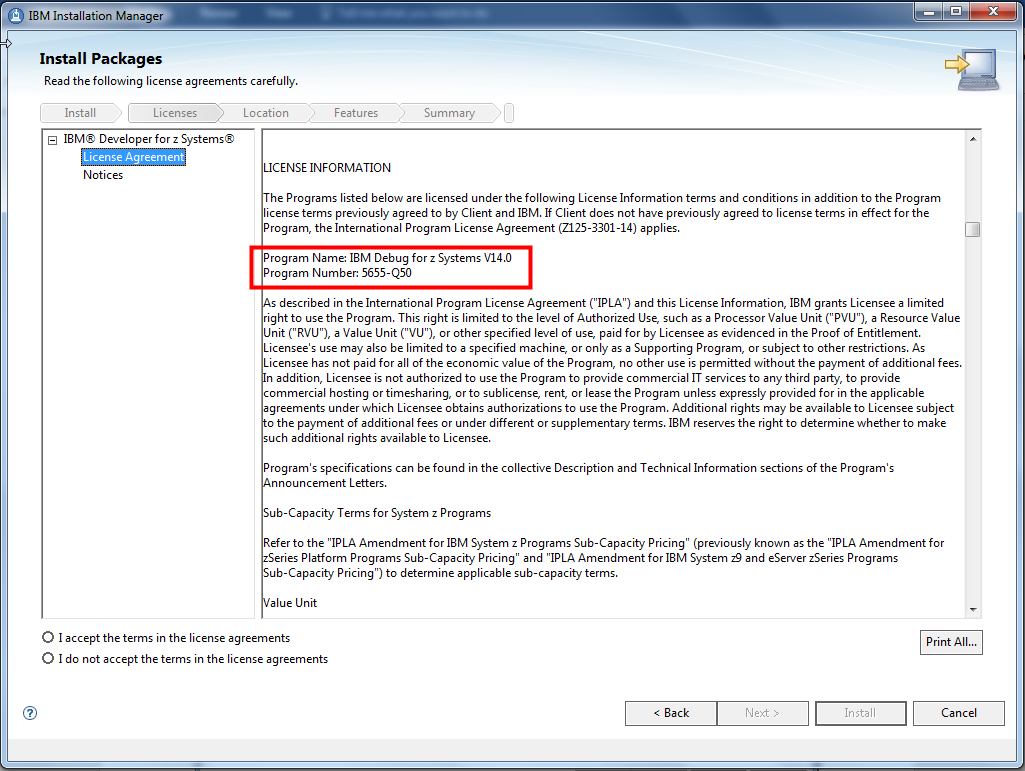 Figure 4: License agreement