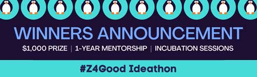 #Z4Good Ideathon – Winners Announcement - A big thank you to the participants helping to make the Z4Good Ideathon a success!