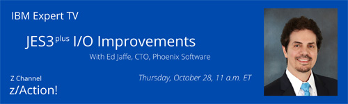 JES3-plus I/O Improvements - Join us for this technical examination of changes to the JES3-plus SPOOL I/O.