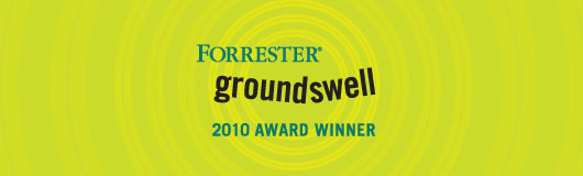 Forrester Groundswell 2010 Award Winner
