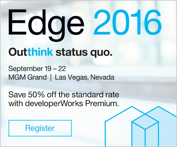 Edge 2016. Outthink the status quo. September