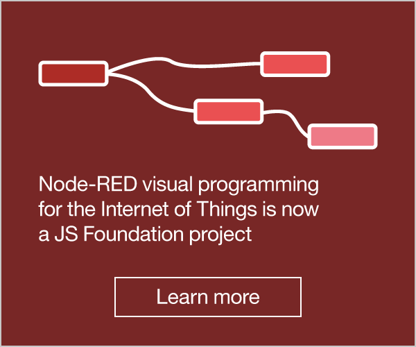 Node-RED visual programming for the Internet of