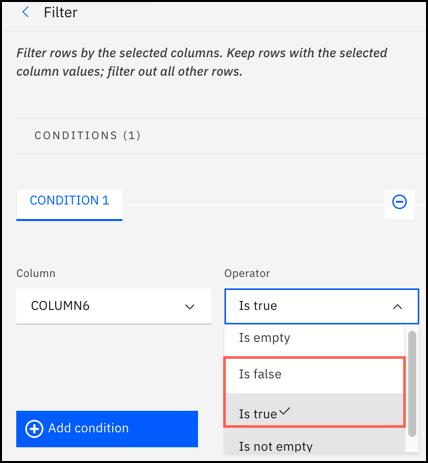 Filter operation