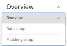 master data configuration navigation menu