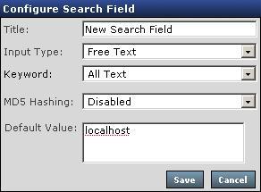 Search Field Properties