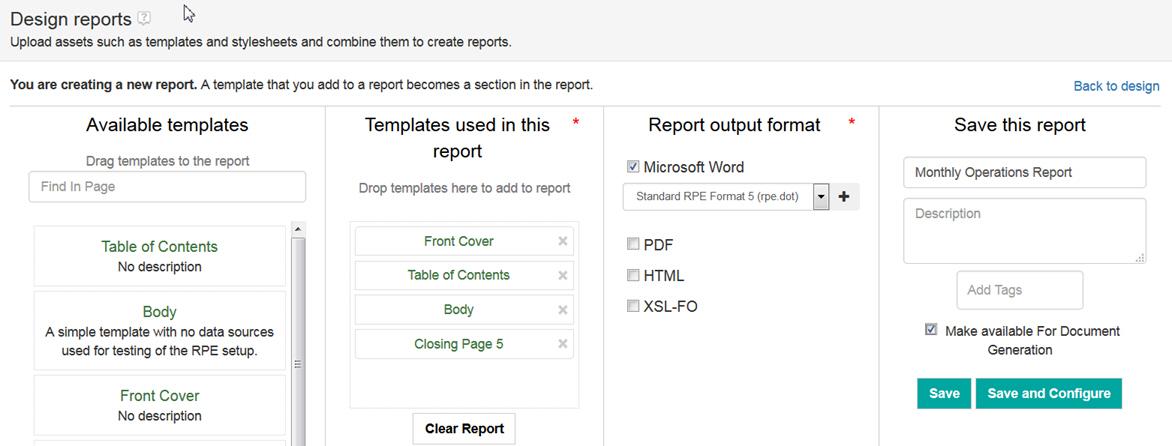Berichte aus Vorlagen erstellen