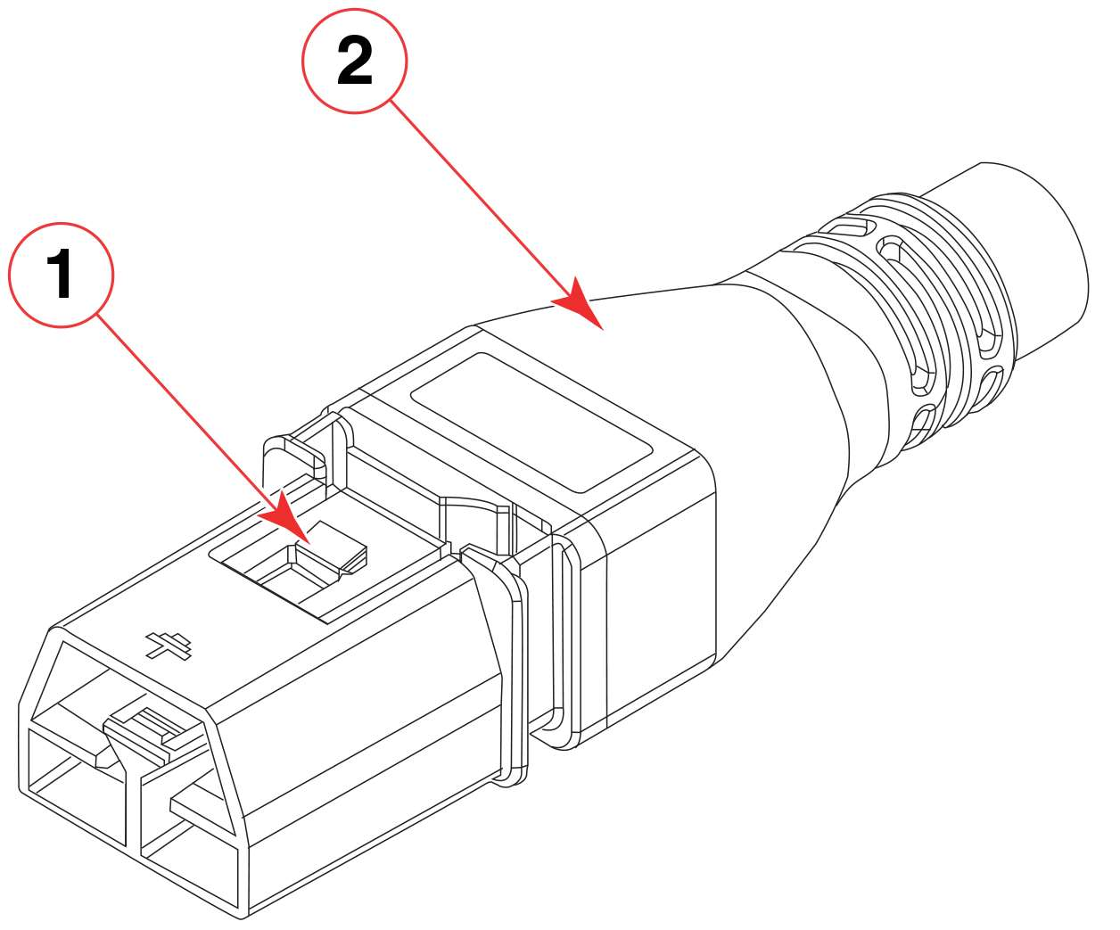 Connecting Power Cord To Hvac Hvdc Supplies Installation Drawing View Of Cable Connector Supply And Latch