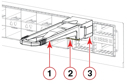 Installing a QSFP transceiver